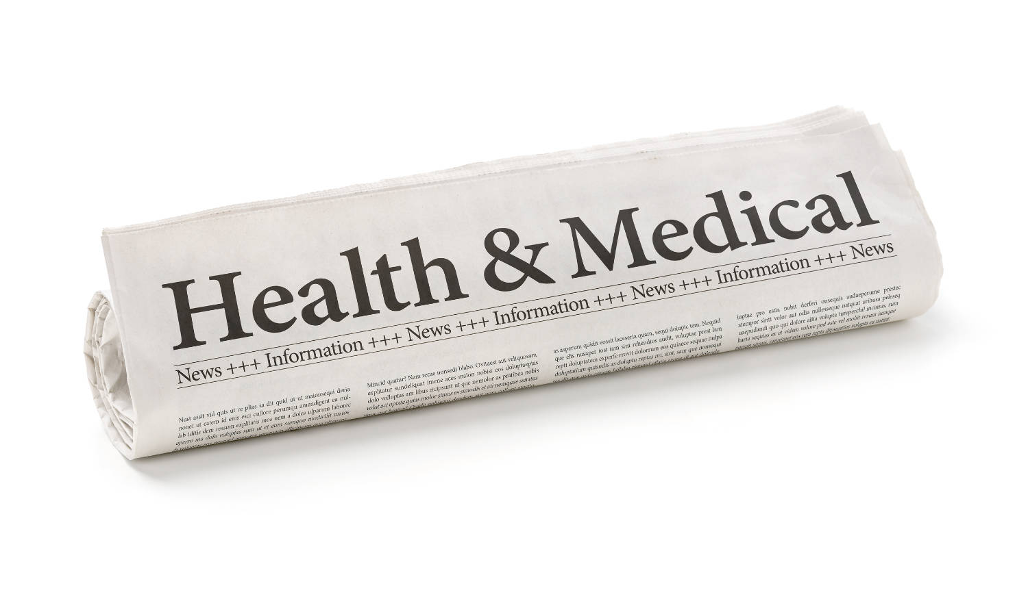 Newspaper With The Headline Health And Medical