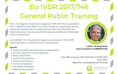 EU IVDR 2017/746 General Public Training 20.01.2021