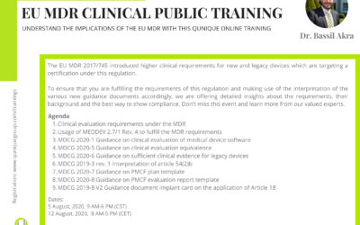 EU MDR Clinical Public Training  with Dr. Bassil Akra 13.10.2020