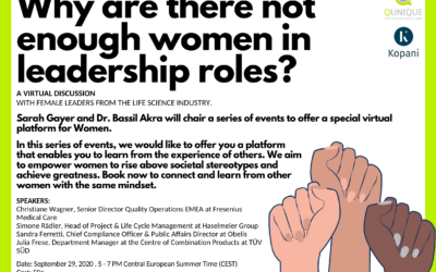 Women in Leadership Series with Sarah Gayer and Bassil Akra – Why are there not enough women in leadership roles? with Christiane Wagner, Simone Rädler, Sandra Ferretti and Julia Frese 29.09.2020