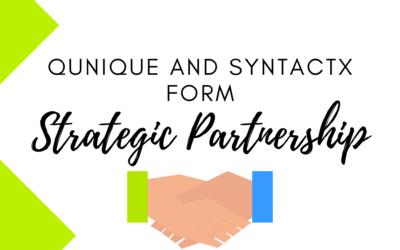 QUNIQUE and Syntactx form Strategic Partnership