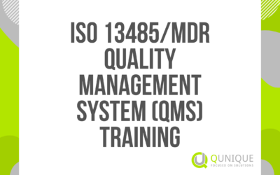 ISO 13485/MDR QUALITY MANAGEMENT SYSTEM (QMS) TRAINING 23.02./24.03./22.04./26.05./17.06./21.07./23.09./21.10./23.11./16.12.2021