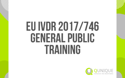EU IVDR 2017/746 GENERAL PUBLIC TRAINING 19.02./17.03./14.04./19.05./14.06./27.08./14.09./14.10./15.11./14.12.2021