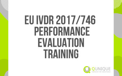 EU IVDR 2017/746 PERFORMANCE EVALUATION TRAINING 22.02./30.03./27.04./31.05./30.06./30.08./30.09./29.10./30.11./15.12.2021