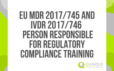 EU MDR 2017/745 AND IVDR 2017/746 PERSON RESPONSIBLE FOR REGULATORY COMPLIANCE TRAINING 26.02./23.04./21.05./24.06./16.09./15.10./18.11.2021