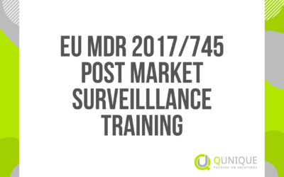 EU MDR 2017/745 POST-MARKET SURVEILLANCE TRAINING 12.02./29.03./29.04./25.06/28.07./29.09./26.10./11.11./08.12.2021