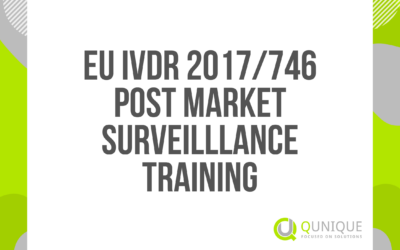 EU IVDR 2017/746 POST-MARKET SURVEILLANCE TRAINING 11.02./26.03./27.05./28.06./27.07./11.10./25.11./21.12.2021