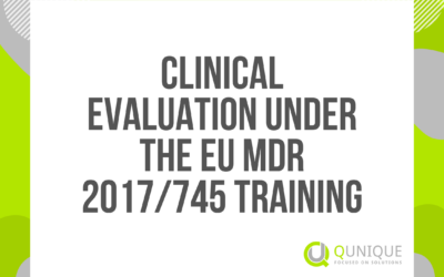 CLINICAL EVALUATION UNDER THE EU MDR 2017/745 25.02./23.03./28.04./28.05./15.06./15.07./24.09./27.10./19.11./17.12.2021