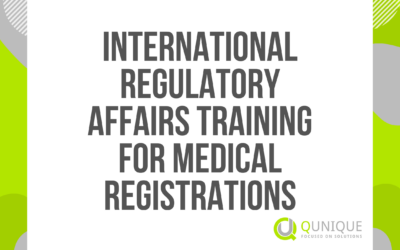 INTERNATIONAL REGULATORY AFFAIRS TRAINING FOR MEDICAL REGISTRATIONS 31.03./24.05./30.07./28.09./29.11.2021