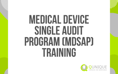 MEDICAL DEVICE SINGLE AUDIT PROGRAM (MDSAP) TRAINING 18.02./22.03./20.04./10.05./08.06./13.07./15.09./06.10./10.11./06.12.2021