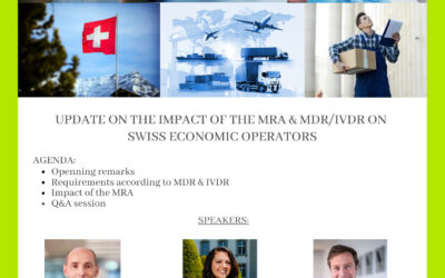 """Swiss Medtech & QUNIQUE Joint Event on 01.04.2021 """"Update on the impact of the MRA & MDR / IVDR on Swiss Economic Operators"""""""