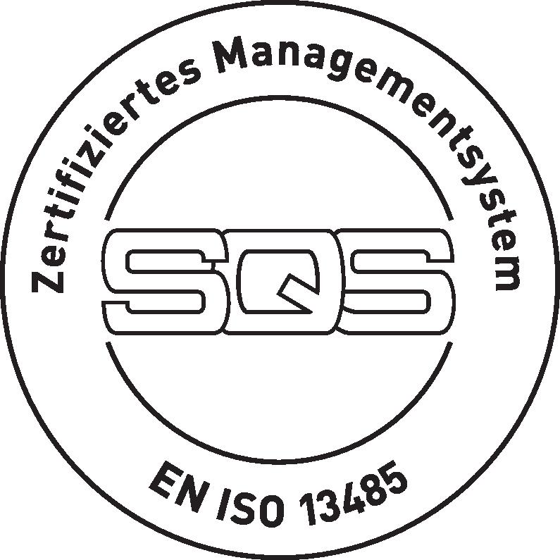 SQS Zertifiziertes Managementsystem EN ISO 13485